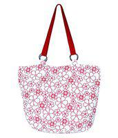 Bag factory red colour Canvas with Red embriodary Sling bag