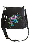 Fly Angels women's sling bag with embroidery (black)