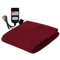 Winter Care Automatic Velvet Throw Blanket Double - Cherry (72 x 75) Entirely Made in India