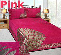 bedsheet(akshya Premium Chenille Bed Cover with 2 Pillow Cover,Pink)