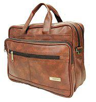 Handcuffs Office Bag for Men's/Gents 14' Inch Maroon Color Foam Leather Bag (21)