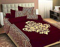 Fresh From Loom Chenille 500 TC Bed Cover (Maroon_Double)