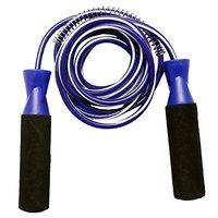 Fitness Jumping Skipping Rope with Comfortable Foam Grip (Blue HOT)