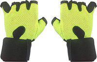 CP Bigbasket Netted Wrist Support Gym & Fitness Gloves (Free Size) (Green)