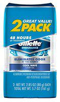 Gillette Deodorant Twin Pack Cool Wave 2.85 Ounce Clear Gel (84ml) (6 Pack)