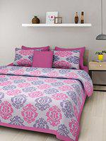 Suraaj Fashion Cotton Rajasthani Double Bedsheet with 2 Pillow Cover