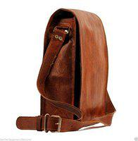 pranjals house Men's and Women's Leather Vertical Sling Bag 11 x 4 x 15 (Brown)