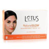 Lotus Herbals Natural Glow Skin Radiance Facial Kits, 50 g - (Pack of 2)