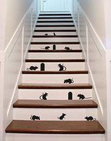 Creatick Studio 'Wall Stickers for Bedroom Kitchen' (Mouse Thief 60 * 92 cm)