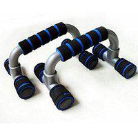arnav Plastic T Shape Push UP Bars/Stands with Foam Handles Pectorals Muscle Building Fitness for Home and Gym (Multicolour)