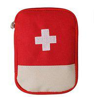 Lemish Mini Small First Aid Kit Travel Pouch Medicine Storage Bag (Multi)