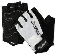 Cockatoo Fuel, Gym Gloves; Weight Lifting Gloves (Silver, Large)