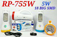 Onlite 5W JUMBO Two Tube 18SMD Rechargeable Torch High Power LED Flash Laser Light, Night Torch