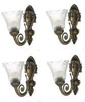 Buy Best Wall Light Modern Style Metal and Glass White Wall Light -Pack of 4