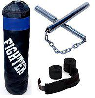 Fighter Punching Bag With Nan Chaku