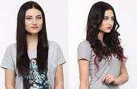 Hairwits 7 Piece Ombre Burgundy Hair Extensions