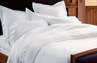 Griiham Solid White Pure Cotton King Size BEDSHEET with 2 Pillow Covers Thread Count 180-200