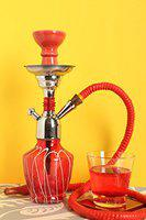 Hookah Craftbell Thunder Red 12 Inch - Hookah Pot , 12 Inch Hookah , Big Hookah , Stylish Hookah , Sheesha Hookah , Glass Hookah For Home Decor And Gift / New Year Gift / Christmas Gift (Red)