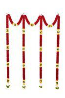 Daedal crafters- Maroon Thoma Flower Back Drops with semi Circles DC199