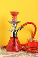 Hookah Craftbell Elegant Red Petite 12 Inch - Hookah Pot , 12 Inch Hookah , Big Hookah , Stylish Hookah , Sheesha Hookah , Glass Hookah For Home Decor And Gift / New Year Gift / Christmas Gift (Red)