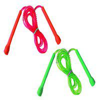 RIPR Pencil Skipping Rope Fast and Health (Pack of 2) (Red, Green)