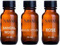 NAWAB Essential Aroma Diffuser Oil(Rose,Eucalyptus,Sandalwood-15ml Each)