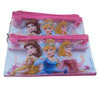 Asera 12 Pcs Kids Plastic Pencil Pouch for Birthday Return Gifts -Princess Design