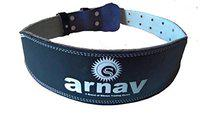 arnav Weight Lifting Gym Belt for Light and Heavy Exercise with Steel Roller Buckle Foam Padded Split Leather Black 4 Back (S)