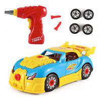 Toys Bhoomi 2 in 1 Build Your Own Take Apart Racing Car Modification Playset – Includes Electric Drill & Car Parts with Lights and Sounds (30 Pieces)