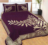 Innovative edge Chenille bedsheets for King Size Bed|bedsheet