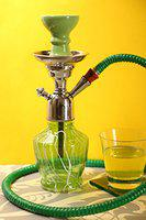 Hookah Craftbell Thunder Green 12 Inch - Hookah Pot , 12 Inch Hookah , Big Hookah , Stylish Hookah , Sheesha Hookah , Glass Hookah For Home Decor And Gift / New Year Gift / Christmas Gift (Green)