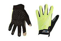 Mototrance Touch Recognition Full Finger All Season Outdoor Gloves Large Size (Green)