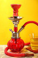 Craftbell Ultimate Red 12 Inch Pumpkin Hookah - Hookah Pot , 12 Inch Hookah , Big Hookah , Stylish Hookah , Sheesha Hookah , Glass Hookah , For Home Decor / Refreshment & Gift