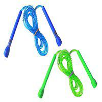 Aryans Green Blue Pvc Pencil Skipping Rope (Pack Of 2)