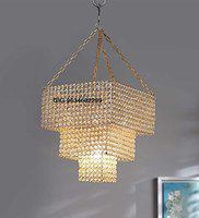 GIG Handicrafts 5w led bulb or 11w cfl Chandelier With 5 Light, Gold, Square