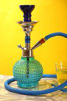 Hookah Craftbell Classy Blue Bambino 12 Inch Glass Hookah / Hookah Pot - For Home Decor, Refreshment & Gift