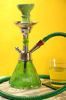 Hookah Craftbell Green Petite 12 Inch Glass Hookah / Hookah Pot - For Home Decor, Refreshment & Gift