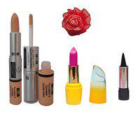ADS Foundation & Concealer (2 in 1), Lipstick, Kajal and Red Band