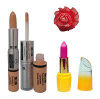 ADS Foundation & Concealer (2 in 1), Lipstick and Red Band