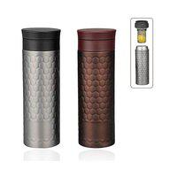 VACUUMIZED Tea/Fruit Infuser SS Sipper in Honeycomb Design