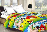 Factorywala Single Bed Cotton AC Blanket Size 84 X 54 Inches (Multicolour)