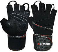 Kobo WTG-14 Professional Gym Gloves for Fitness/Functional Training Hand Protector with Wrist Support (Small)