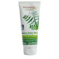 Patanjali Aloevera Neem Cucumber Face Pack, 60g - pack of 2