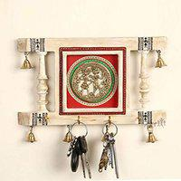 Dhokra Art Key Holder with Aritificial Bell Motif