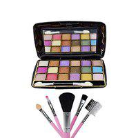 Adbeni 18 Colour Shimmer Eyeshadow With Makeup Brush Set