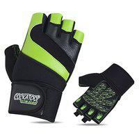 Cockatoo CK113 Professional Gel Performer Gym Gloves with Wrist Support; Weight Lifting Gloves (S)