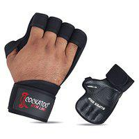 Cockatoo CK100 Gym Gloves with Wrist Support; Weight Lifting Gloves (S)