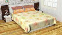 Stellar Home USA Melina 180 TC Cotton Double Bedsheet with 2 Pillow Covers - Abstract, Pink