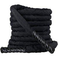 Kobo CTA-01 Black 1.5 Width Poly Dacron 50ft (15 Meter) Length Battle Rope Workout Training Undulation Rope Fitness Rope Exercise (Imported)