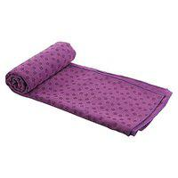 Spinway Light Weight Yoga Mat Towel, Anti-Skid,Extra Absorbent, Microfibre & Anti Bacterial with Cover Bag- Ideal for Hot Yoga & Pilates
